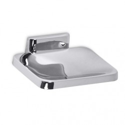 AJW Commercial Washroom Accessories UC21 Bright Chrome Surface Mounted Zamac Soap Dish w/o Drainage Holes