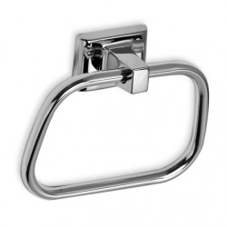 AJW Commercial Washroom Accessories UC30 Bright Chrome Surface Mounted Zamac Towel Ring