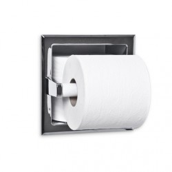AJW Commercial Washroom Accessories UC72 Single Toilet Tissue Paper Dispenser w/ Hide-A-Roll - Recessed