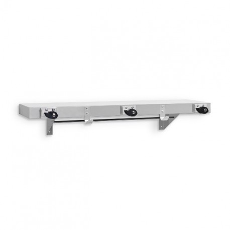 AJW Commercial Washroom Accessories Janitorial Supply UJ41 Mop Holder & Hook Strip w/ Shelf