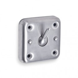 AJW Collapsible Security Hook, Exposed Mounting - Surface Mounted