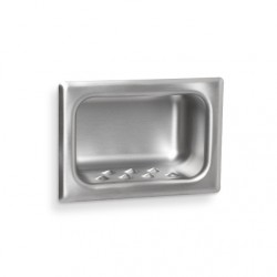 AJW Security Soap Dish, Chase Mount - Recessed