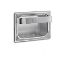 AJW Commercial Washroom Accessories UX80 Bright Chrome Recessed Soap Dish