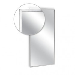 "AJW 16""W x 20""H Angle Frame Mirror, Plate Glass Surface"