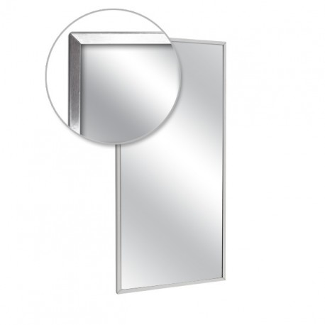 "AJW 16""W x 20""H Channel Frame Mirror, Plate Glass Surface"