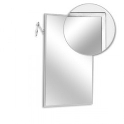 "AJW U7028B-1624 16""W x 24""H Adjustable Tilt Angle Frame Mirror"