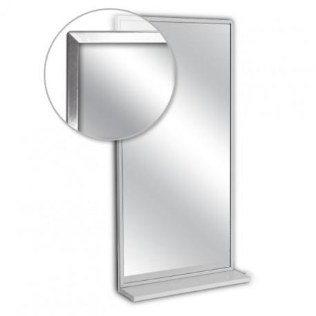 """AJW 16""""W x 24""""H Channel Frame Mirror w/ Mounted Shelf"""