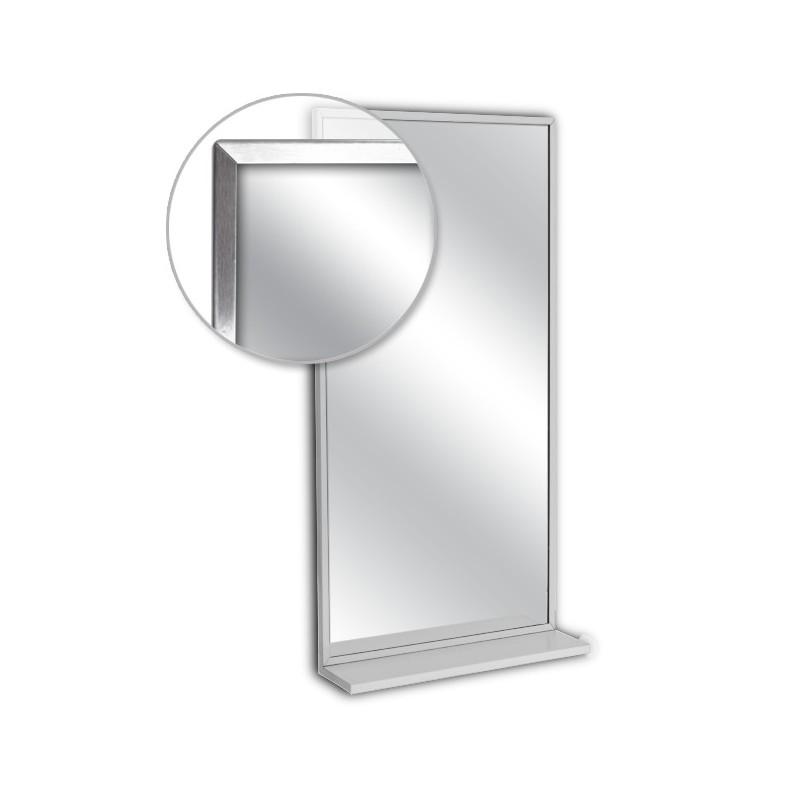 Ajw 18 w x 24 h channel frame mirror w mounted shelf for Mirror 18 x 24