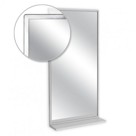 """AJW 24""""W x 36""""H Angle Frame Mirror w/ Mounted Shelf"""
