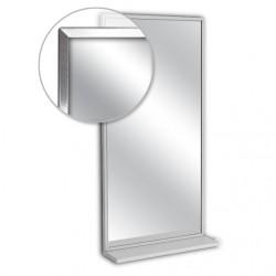 """AJW 24""""W x 36""""H Channel Frame Mirror w/ Mounted Shelf"""