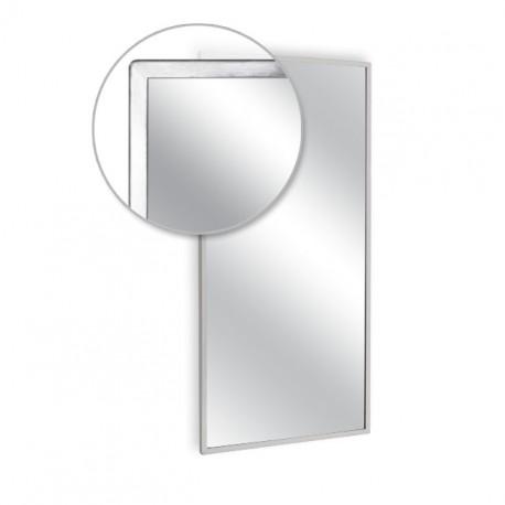"""AJW 24""""W x 42""""H Angle Frame Mirror"""