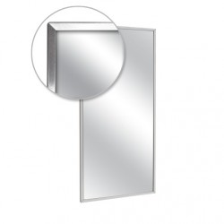 "AJW U711-3042 30""W x 42""H Channel Frame Mirror"