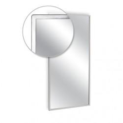 """AJW 48""""W x 36""""H Angle Frame Mirror"""