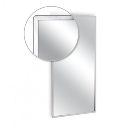 """AJW 48""""W x 48""""H Angle Frame Mirror"""