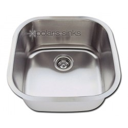 Polaris P0202 Undermount Single Bowl Stainless Steel Kitchen Sink
