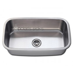 Polaris P813 Undermount Single Bowl Stainless Steel Sink