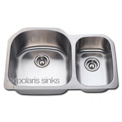 Polaris PL1213 Undermount Offset Stainless Steel Sink