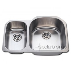 Polaris PR1213 Undermount Reverse Offset Stainless Steel Kitchen Sink