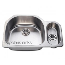 Polaris PL123 Undermount Offset Stainless Steel Sink
