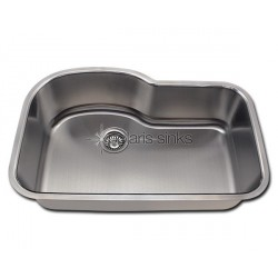 Polaris P643 Undermount Offset Single Bowl Stainless Steel Kitchen Sink