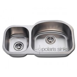 Polaris PR105 Undermount Reverse Offset Stainless Steel Sink