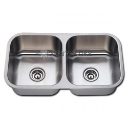Polaris PA205 Double Bowl Stainless Steel Kitchen Sink