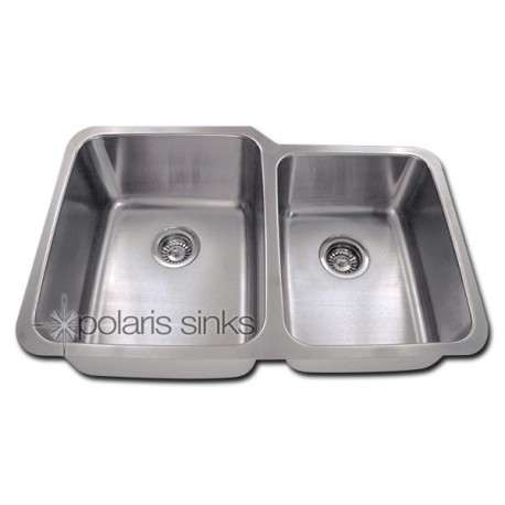 Polaris Pr315 Large Right Bowl Offset Double Bowl Stainless Steel Sink