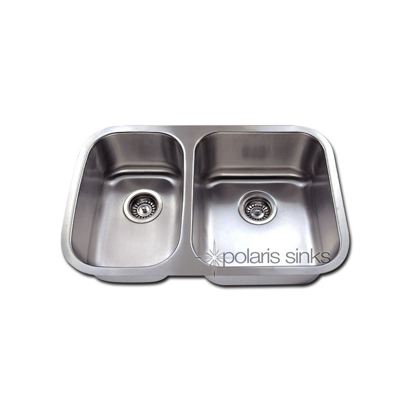 polaris pr825 large right bowl small offset stainless steel kitchen sink. Black Bedroom Furniture Sets. Home Design Ideas