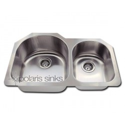 Polaris PL235 Large Left Bowl Offset Stainless Steel Kitchen Sink