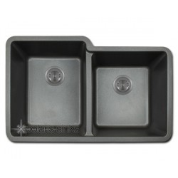 Polaris P108BL Double Offset Bowl TruGranite Sink