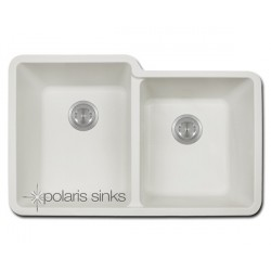 Polaris P108W Double Offset Bowl TruGranite Sink