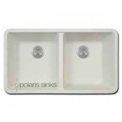Polaris P208W Double Equal Bowl TruGranite Kitchen Sink
