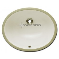 Polaris PUPSB Bisque Undermount Porcelain Bathroom Sink
