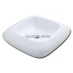 Polaris PV001W White Porcelain Vessel Sink