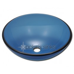 Polaris P106A Aqua Colored Glass Vessel Sink