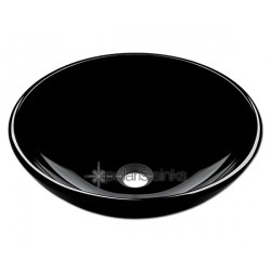 Polaris P106BL Black Colored Glass Vessel Sink