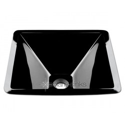 Polaris P306BL Black Colored Glass Vessel Sink