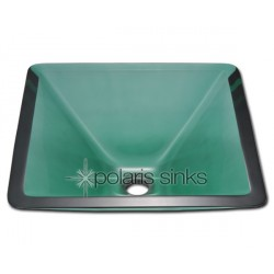 Polaris P306E Emerald Colored Glass Vessel Sink