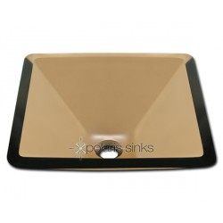 Polaris P306T Taupe Colored Glass Vessel Sink