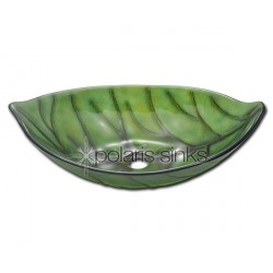Polaris P906 Green Leaf Vessel Sink