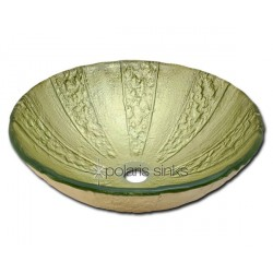 Polaris P326 Gold Foil Glass Vessel Bathroom Sink