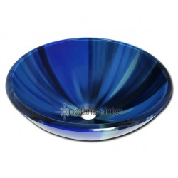 Polaris P726 Blue Sky Glass Vessel Bathroom Sink