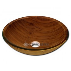Polaris P826 Wood Grain Glass Vessel Bathroom Sink