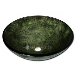 Polaris P926 Forest Green Glass Vessel Sink