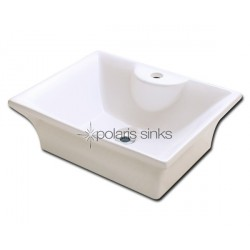 Polaris PV051B Bisque Porcelain Vessel Sink