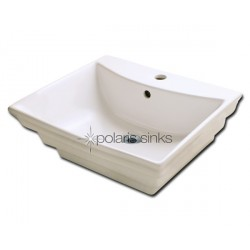Polaris PV061B Bisque Porcelain Vessel Sink