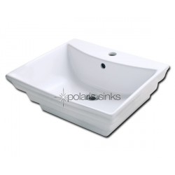 Polaris PV061W White Procelain Vessel Sink