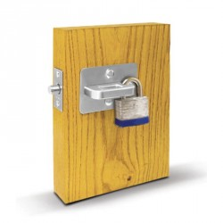 ABH Hardware 1880 Slide Bolt Padlock Latch