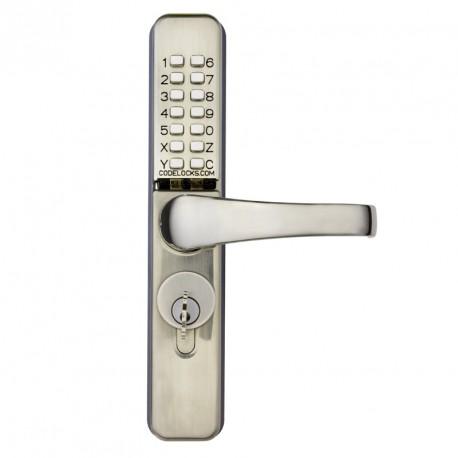Codelocks CL460 Series Mechanical Lock for Narrow Stile Storefront Aluminum Doors - Stainless Steel