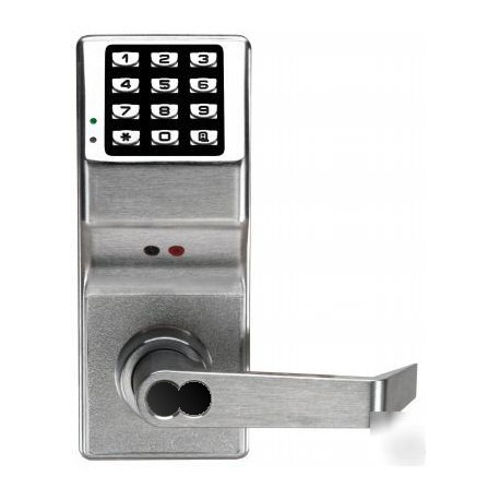 Alarm Lock DL3000IC Series Trilogy T3 Cylindrical Electronic Keypad Entry Lock with Audit Trail Prepped for Interchangeable Core